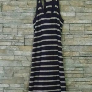 VINCE NAXI DRESS NAVY STRILES SMALL TALL